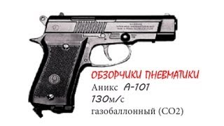 краткий обзор пневматического пистолета АНИКС А101 спорт