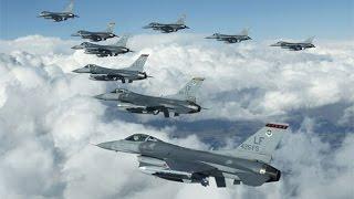 F-16 Diyarbakırda şehir üstünde tur atıyor