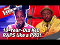 10-Year-Old RAPS like a real PRO in The Voice Kids! ✌