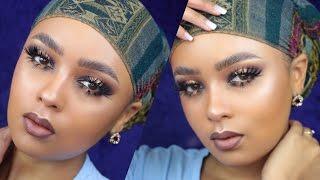 issa look purple halo eye fierce bottom lashes   fleek by ahliyah
