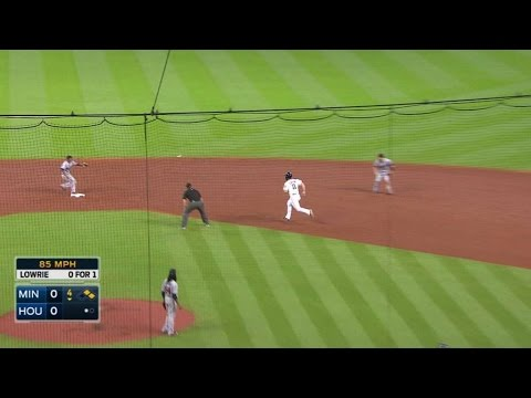MIN@HOU: Dozier fields and starts 4-6-3 double play