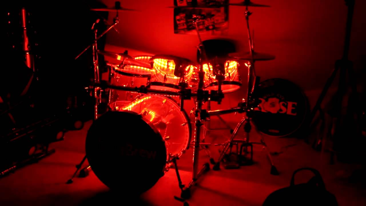 Custom Seamless Acrylic Led Lighted Drum Kit Youtube
