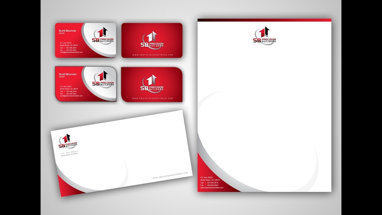 How to make business card letterhead business envelope how to make business card letterhead business envelope coreldraw tutorial reheart Gallery