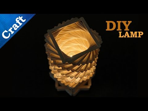 Arts and Crafts Ideas    How to make Ice Cream Sticks Twisted Lamp