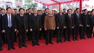 Tổng Bí thư Nguyễn Phú Trọng dâng hương tưởng niệm đồng chí Nguyễn Đức Cảnh