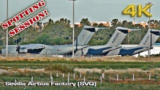 Sevilla Airbus Factory Spotting Session 2017 [4K]