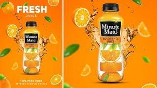 Download lagu Photoshop Tutorial - Orange Juice Advertising Poster Design