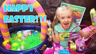 Happy Easter!! Easter Egg Hunt With Easter Bunny! GIANT Easter Baskets!!!