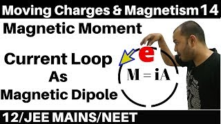 Moving Charges n Magnetism 14 : Magnetic Moment :Current Loop as Magnetic Dipole : JEE/NEET