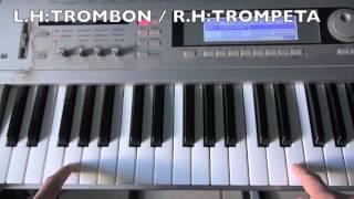 Los Ángeles Azules - Cómo Te Voy A Olvidar (Piano/Teclados) Tutorial