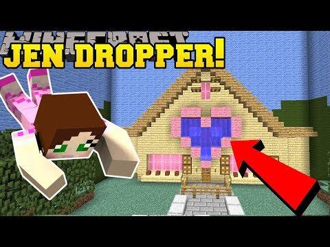 Minecraft: DROPPING INTO JEN'S HOUSE!!! - Custom Map