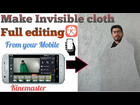How to make an invisible cloth from mobile full editing.