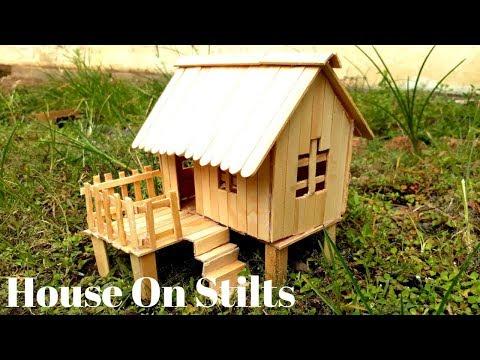 Cara Membuat Miniatur Rumah Panggung Dari Stik Es Krim Video