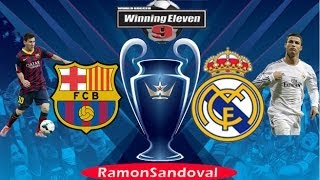 Barcelona vs Real Madrid + FULL HD + 2014 + Winning Eleven 9. Gameplay