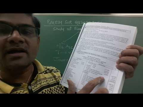 Study Of Financial Statement (Vertical Income Statement ) Lecture-1 By Rakesh Sir