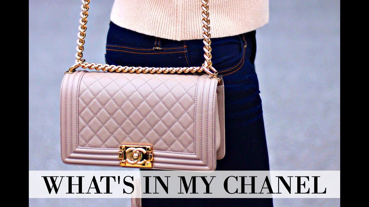 49dc6ae32359 WHAT'S IN MY BAG | CHANEL BOY BAG + REVIEW + IS IT WORTH IT? - YouTube