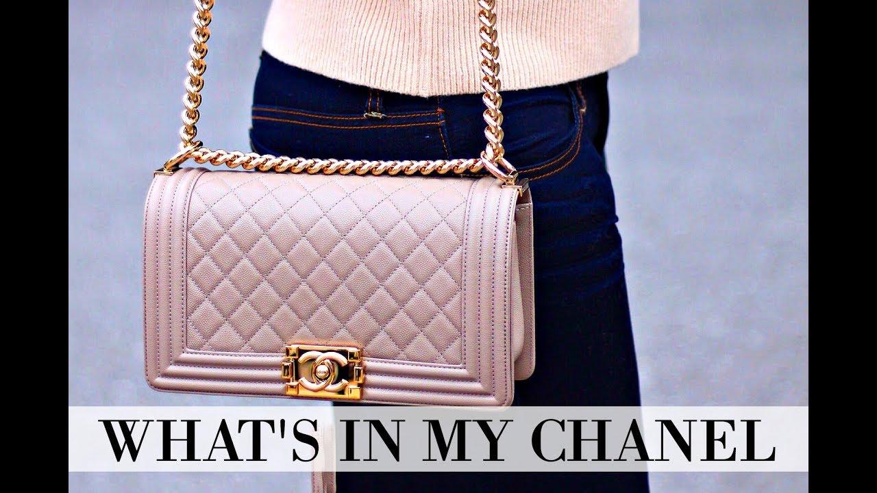 3f7da54ffa5853 WHAT'S IN MY BAG | CHANEL BOY BAG + REVIEW + IS IT WORTH IT? - YouTube