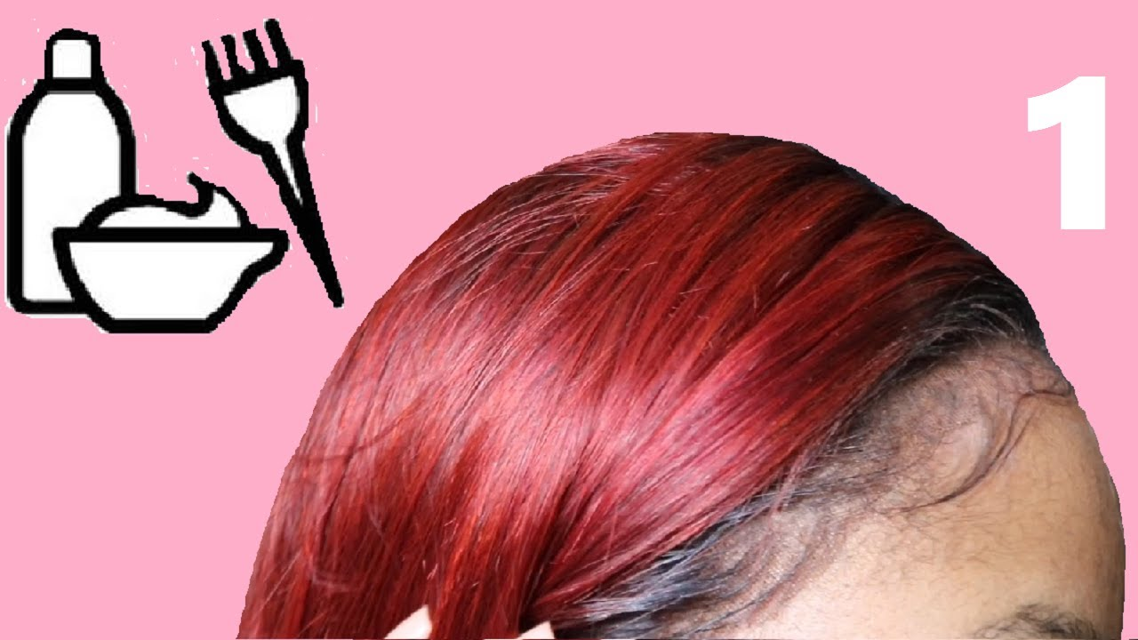 Beginners Lace Frontal Series   How to Dye a Frontal Red without Destroying  the Lace c2179419c