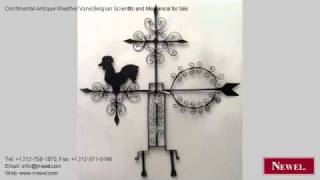 Continental Antique Weather Vane Belgian Scientific And