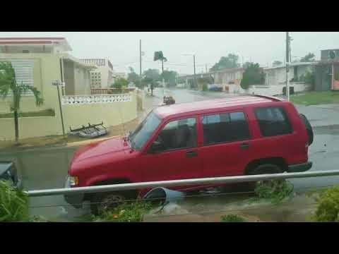 Antes y despues del huracan irma en fajardo puerto rico