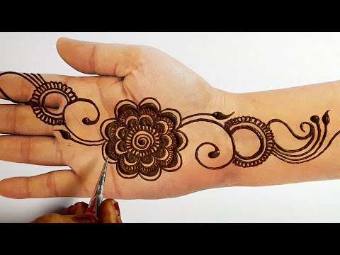 Easy Beautiful Mehndi Design - Eid Special Latest Mehndi Design 2019 - सरल तरीके मेहँदी लगाना सीखे