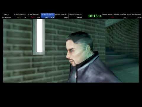 Deus Ex All Skillpoints Speedrun 1:28:19