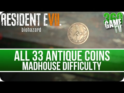 Resident Evil 7 All Antique Coin Locations (Madhouse Difficulty) - Mad Pelicans Trophy / Achievement