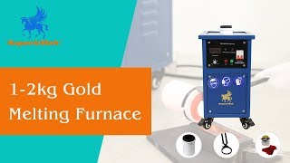 Small electric induction gold melting machine, portable silver/k gold/copper smelting furnace
