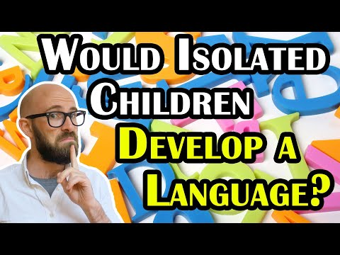 If Children Grew up Isolated from Adults, Would they Create Their Own Language?