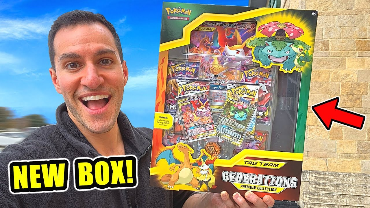 *NEW POKEMON CARDS GENERATIONS CHARIZARD BOX!* Opening PREMIUM COLLECTION Box With COSMIC ECLIPSE!