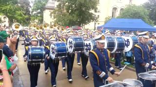 Notre Dame Marching Band 09 10 2016