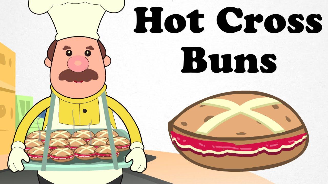Hot Cross Buns | Cartoon Nursery Rhymes Songs For Children