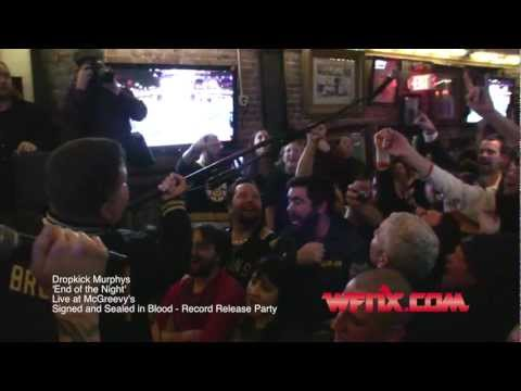 WFNX.com presents the Dropkick Murphys - 'End of the Night' - Record Release Party at McGreevy's