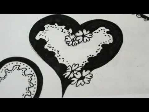 how to draw a lace