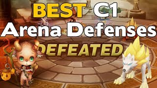 Summoners War - The BEST C1 Arena Defenses - Top 5 Obtainable Conqueror Level ADs