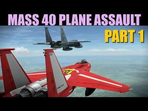 Oceana Campaign: MASSIVE Final 40 Plane Assault Against Red Airbase | Part 1 Of 2 | DCS WORLD