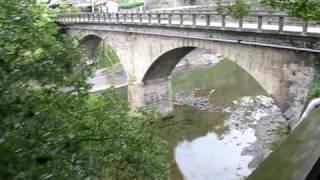 星野川にかかる2連の石橋、寄口橋・八女市上陽町