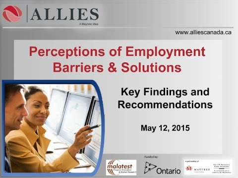 Perceptions of Employment Barriers and Solutions