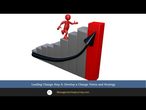 Leading Change Step 3: Develop a Change Vision and Strategy