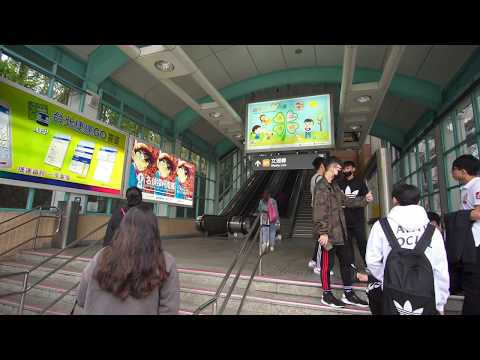 Taiwan, Taipei Zoo MRT station, 6X escalator, 4X elevator