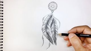 How To Draw A Feather Tattoo   Pencil Drawing Academy