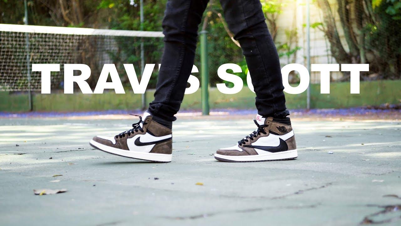 sprzedaż buty temperamentu sprawdzić Jordan 1 Travis Scott | On Foot 4K