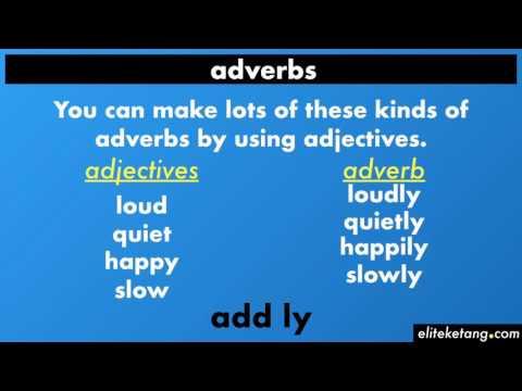 Adverbs of Manner (Describing Verbs)