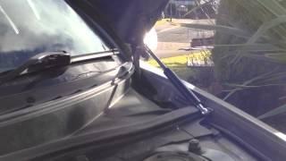 Toyota Celica gen7 Rays bonnet strut gap