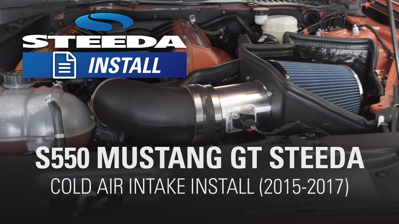 2015 mustang gt steeda cold air intake install - steeda autosports