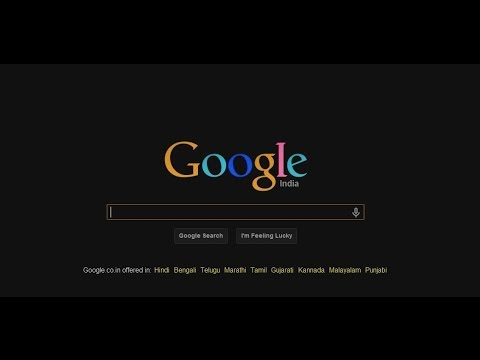 Black Google Chrome Theme
