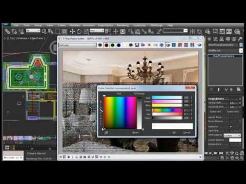 Баланс белого white balance in 3ds max