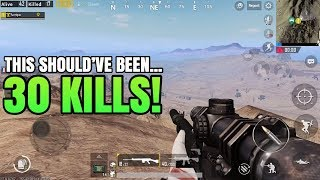 This Should've Been 30 Kills! | FPP Solo VS Squad | PUBG Mobile