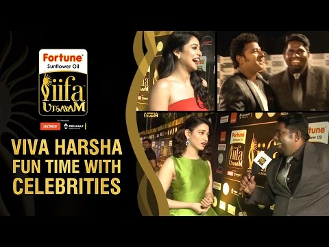 Fun Time with Viva Harsha on Green Carpet | Viva Harsha Interviewing Tamanaah and other Celebs