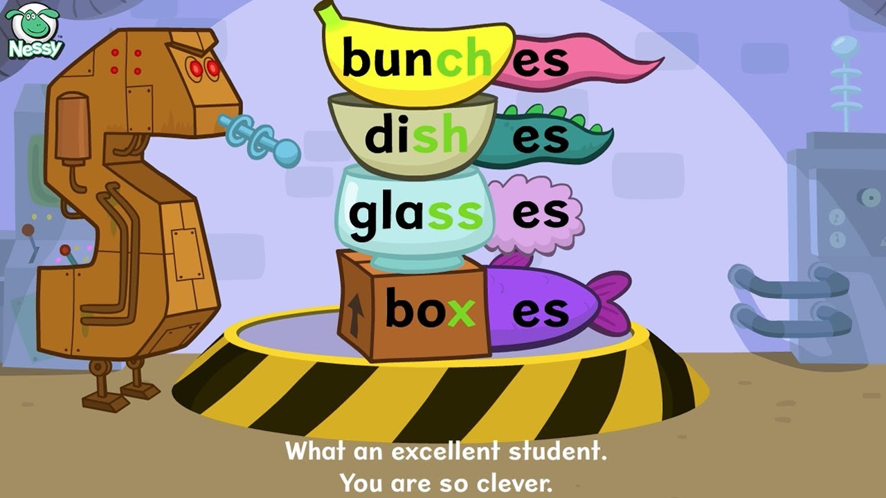 Workbooks making words plural worksheets : Nessy Spelling Strategy: Plurals -s -es - YouTube